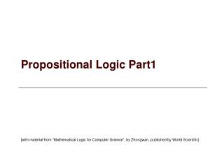 Propositional Logic Part1