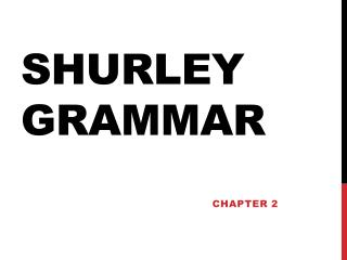 Shurley Grammar