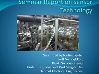 Seminar Report on sensor Technology