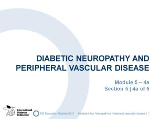Diabetic Neuropathy and Peripheral Vascular Disease