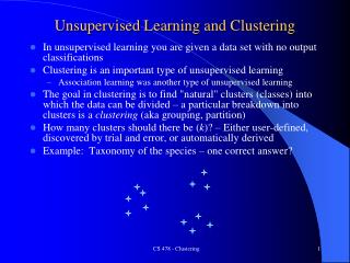 Unsupervised Learning and Clustering