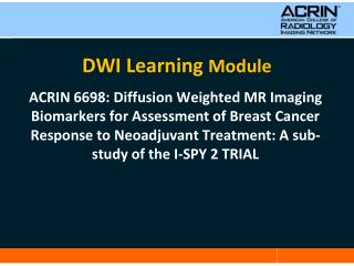 DWI Learning  Module
