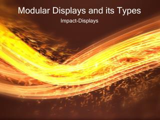 Modular Displays and its Types