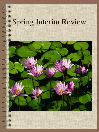 Spring Interim Review