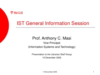 IST General Information Session