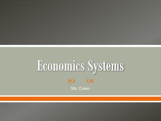 Economics Systems