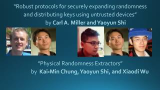 """Robust protocols for securely expanding randomness and distributing keys using untrusted devices"""