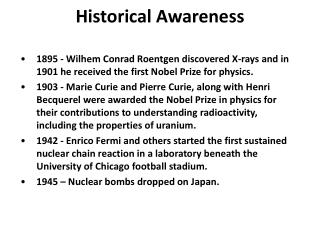 Historical Awareness