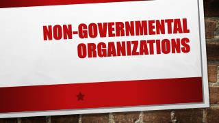 Non-governmental organizations