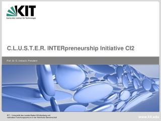 C.L.U.S.T.E.R. INTERpreneurship Initiative CI2