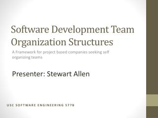 Software Development Team Organization Structures