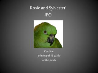 Rosie and Sylvester' IPO