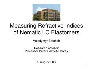 Measuring Refractive Indices of Nematic LC Elastomers