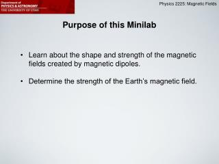 Purpose of this Minilab