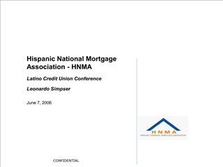 Hispanic National Mortgage Association - HNMA