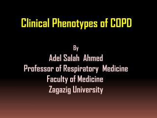 Clinical Phenotypes of COPD