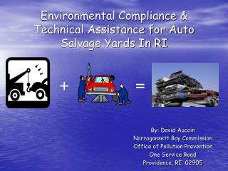 Environmental Compliance & Technical Assistance for Auto Salvage Yards In RI