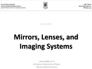 (24 p.593) Mirrors, Lenses, and Imaging Systems