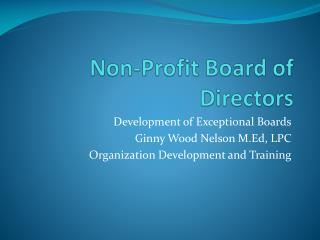 Non-Profit Board of Directors