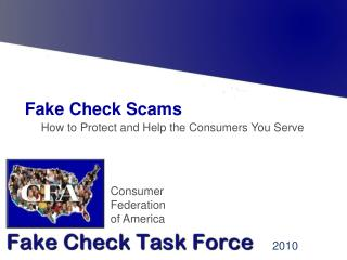 Fake Check Scams :