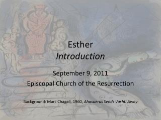 Esther Introduction