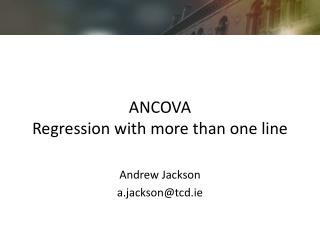 ANCOVA Regression with more than one line