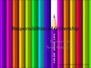 Responsibilities of Citizenship