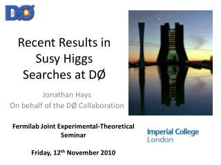 Recent Results in  Susy  Higgs Searches at DØ