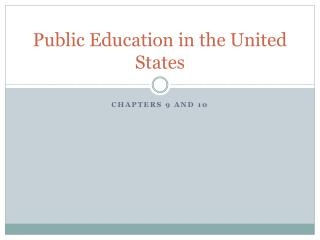 Public Education in the United States