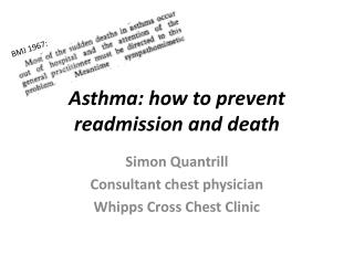 Asthma: how to prevent readmission and death