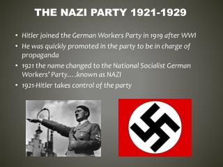 The  nazi  party 1921-1929