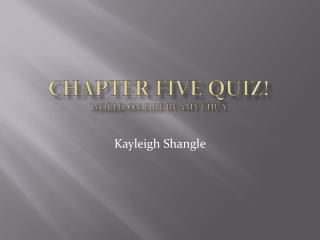 Chapter Five Quiz! World On Fire  by Amy Chua