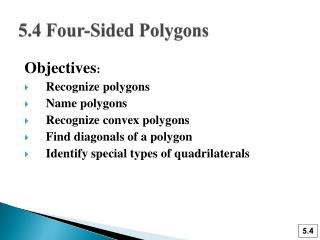 5.4 Four-Sided Polygons