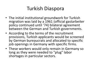 Turkish Diaspora