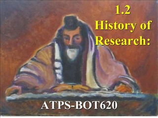 1.2 History of Research: