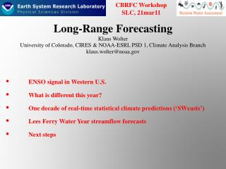 Long-Range Forecasting