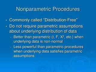 Nonparametric Procedures