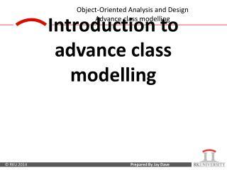 Introduction to advance class  modelling