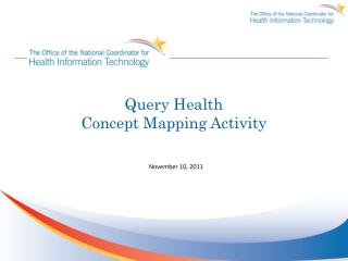 Query Health Concept Mapping Activity