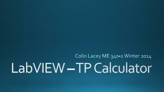 LabVIEW – TP Calculator