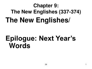 Chapter 9: The New Englishes (337-374)