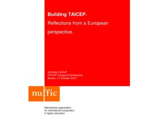 Building TAICEP. Reflections from a European perspective.