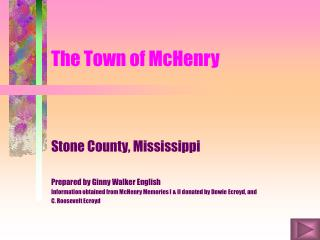 The Town of McHenry