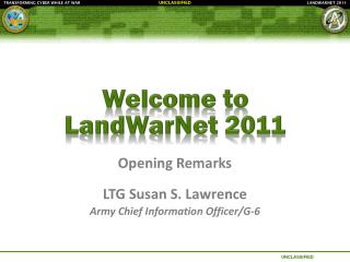 Welcome to  LandWarNet  2011