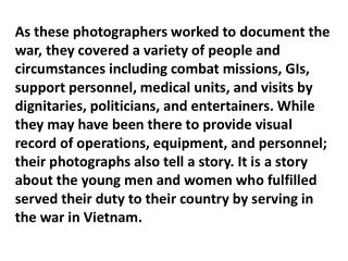 Photographs tell a story!