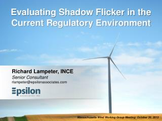 Evaluating Shadow Flicker in the Current Regulatory Environment