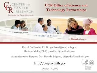CCR Office of Science and Technology Partnerships