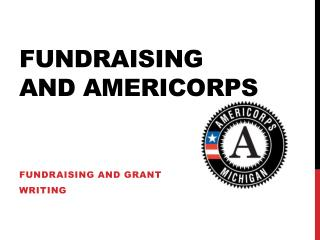 Fundraising  And  americorps