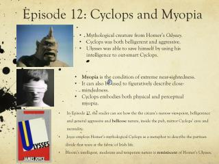 Episode 12: Cyclops and Myopia