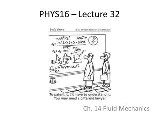 PHYS16 – Lecture 32